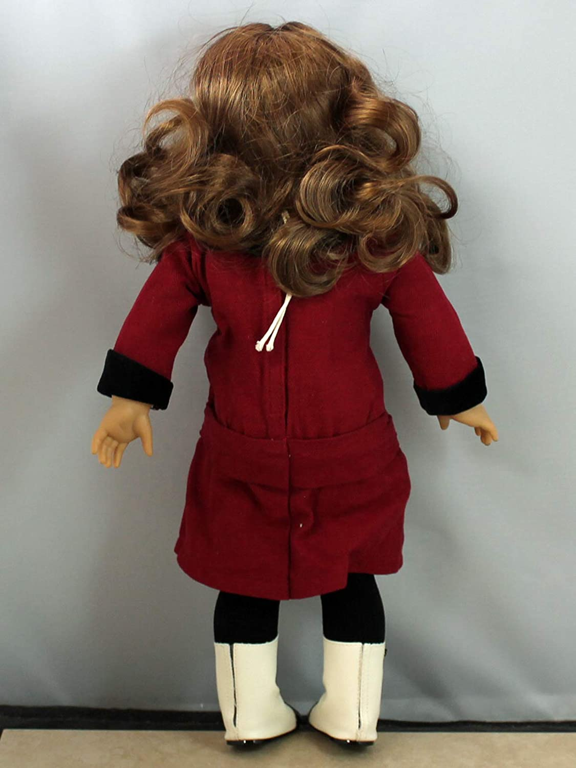 """American Girl 18/"""" Doll Rebecca Original Meet Outfit White BOOTS ONLY Retired"""