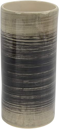 Sagebrook Home 13857-03 Ceramic Vase 9.5 , Black Beige, 5 x 5 x 9.5 inches, Gray