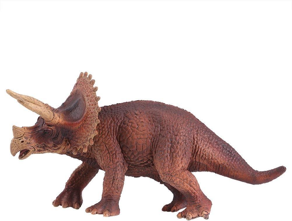 Figuras de dinosaurios realistas, juguetes de dinosaurio Triceratops plástico Modelos Early Educational para niños pequeños niños regalo