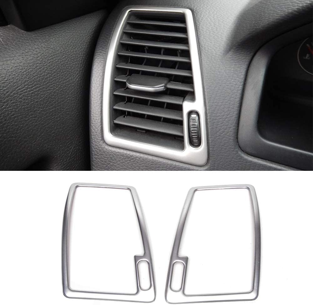 Stainless Steel Side Air Conditioning Vent Ac Outlet Decorative Frame Cover Trims For Volvo Xc90 2008 2009 2010 2011 2012 2013