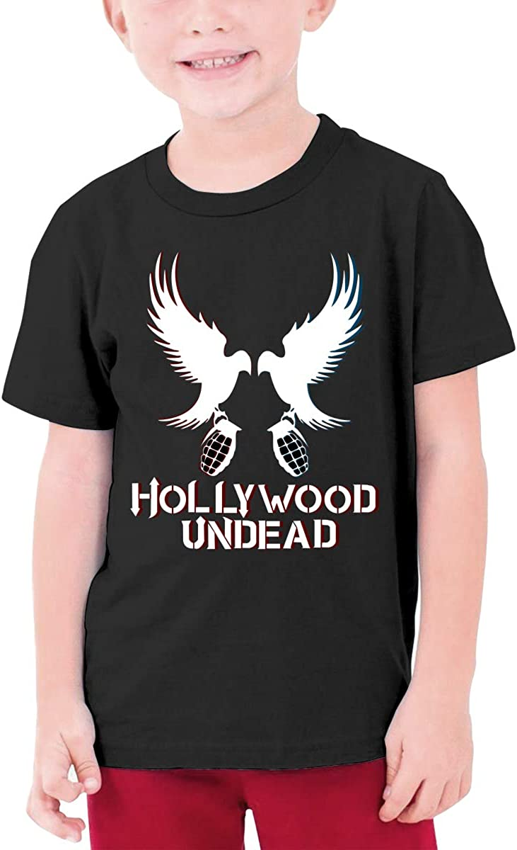 Youth Graphic Tshirts Teenage Boys Girls Short Sleeve T-Shirt Hollywood-Undead Printed Round Collar T Shirt Tees Tops
