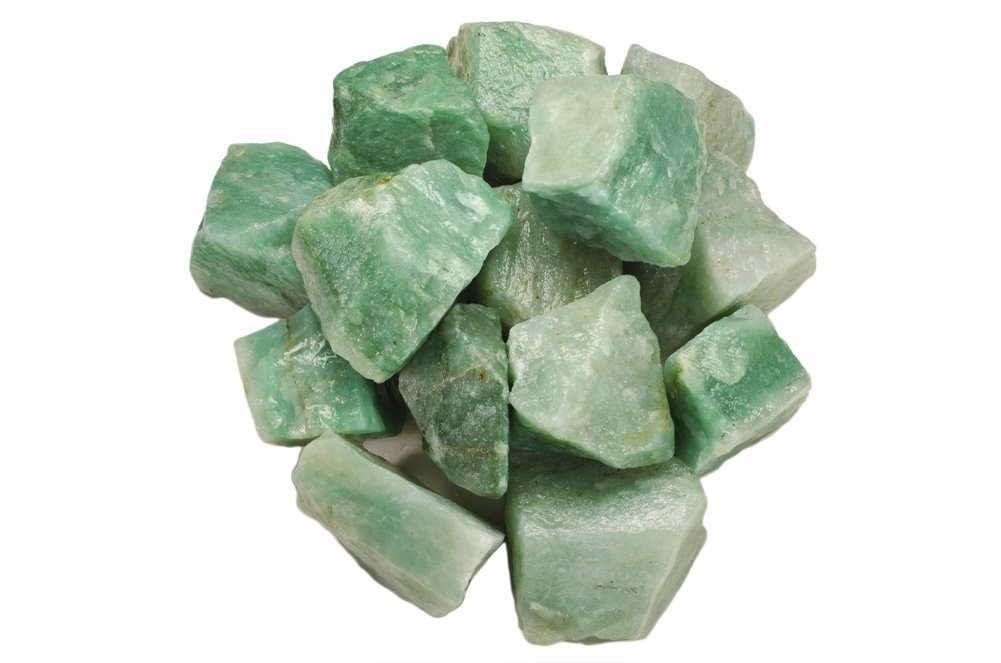 Hypnotic Gems Materials: 1 lb Green Aventurine Stones from Asia - Rough Bulk Raw Natural Crystals for Cabbing, Tumbling, Lapidary, Polishing, Wire Wrapping, Wicca & Reiki Crystal Healing