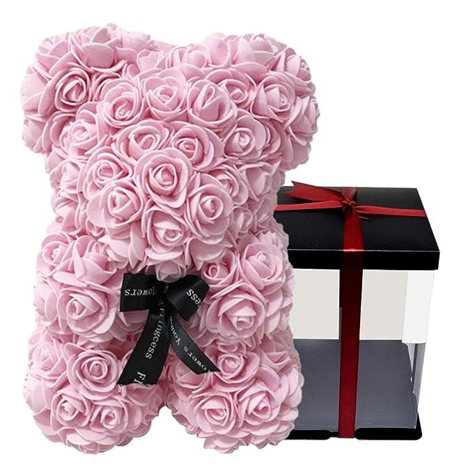 BerryChips Osito de Peluche Artificial Rosas Flores, Flor Eterna ...