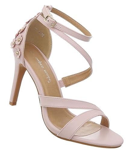 Damen Schuhe Sandaletten High Heels Pumps Stilettoabsatz Designer Mules Trend Pumps Schicke Abendschuhe Silber 38 5WukxtP0V