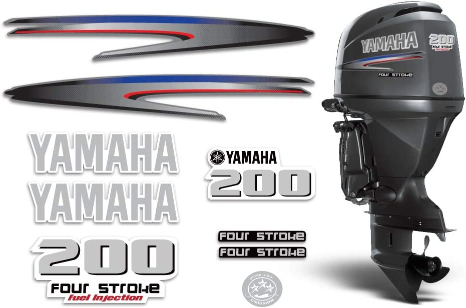 AMR Racing Outboard Engine Graphics Kit Sticker Decal Compatible with Yamaha 250 HPDI