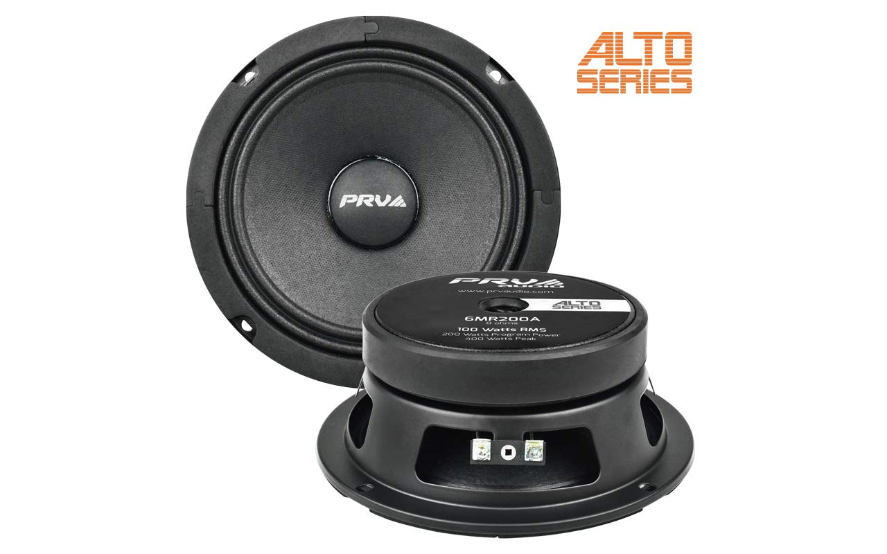 PRV Audio 6MR200A 6'' Mid Range 8 ohms Pro Audio Speaker 94dB 100 Watts RMS 1.5'' VC Alto Series (Single)