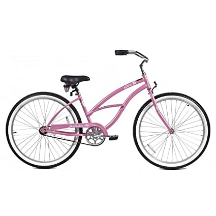 90cdd3f8ba2 Amazon.com : Micargi Pantera Beach Cruiser Bike, Pink, 26-Inch : Cruiser  Bicycles : Sports & Outdoors