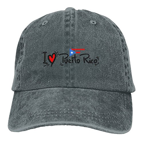 I Love Puerto Rico Vintage Jeans Baseball Cap For Men And Women