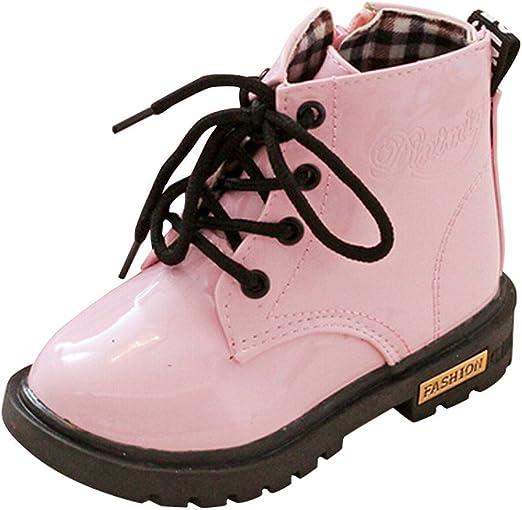YanHoo Zapatos para niñas Botas de otoño e Invierno para niños. Botines Impermeables Moda Niños Niñas Zapatillas de Deporte Invierno Gruesa Nieve Bebé Zapatos Casuales: Amazon.es: Ropa y accesorios