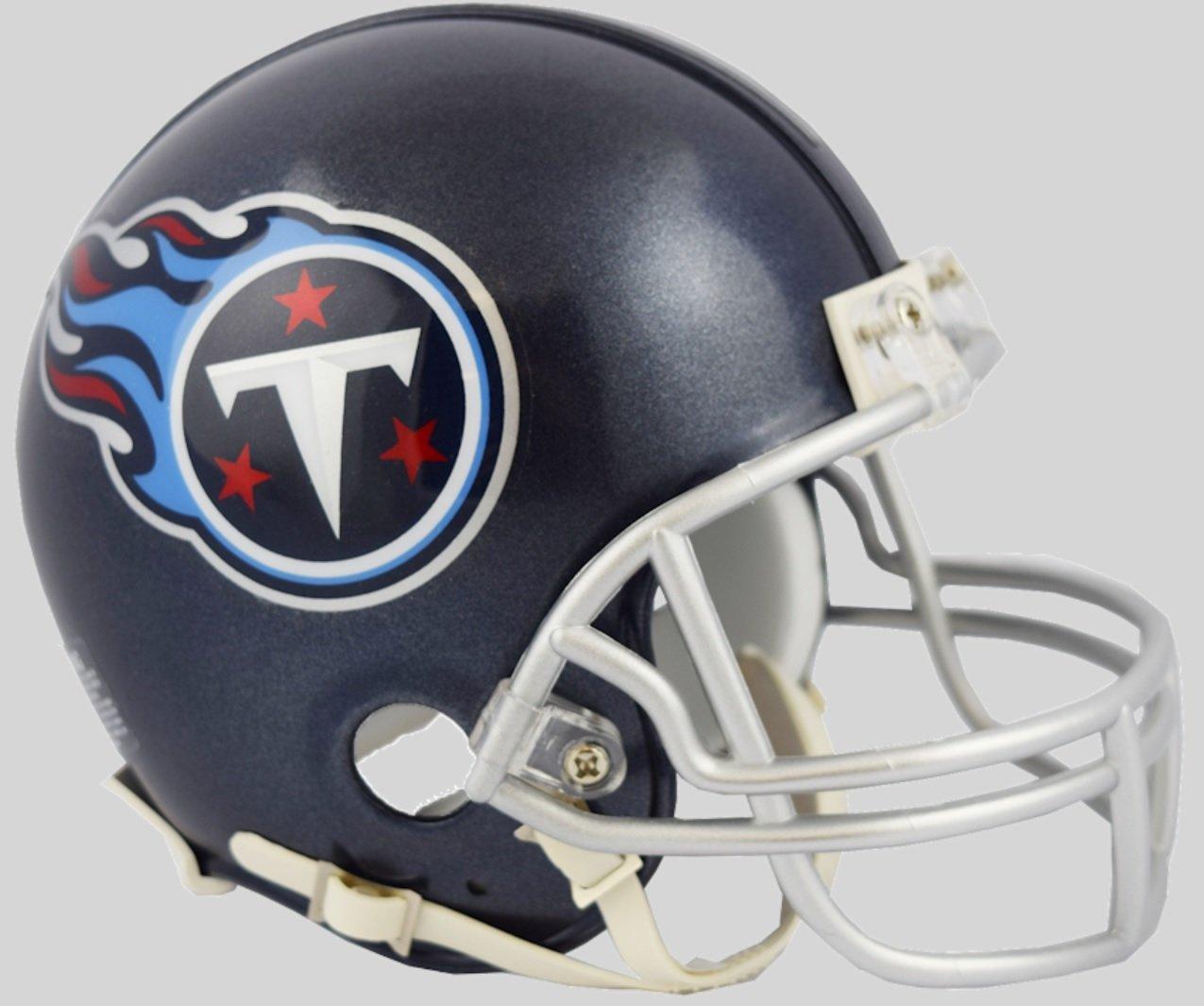 Amazon.com  Tennessee Titans 2018 Satin Navy Metallic Riddell Mini Helmet   Sports Collectibles 128dcfd80
