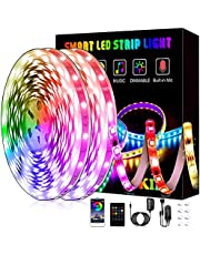 Led Lights, L8star Smart RGB Led Lights Strip for Bedroom with Bluetooth and Remote Controller Led Light Strips Sync to Music