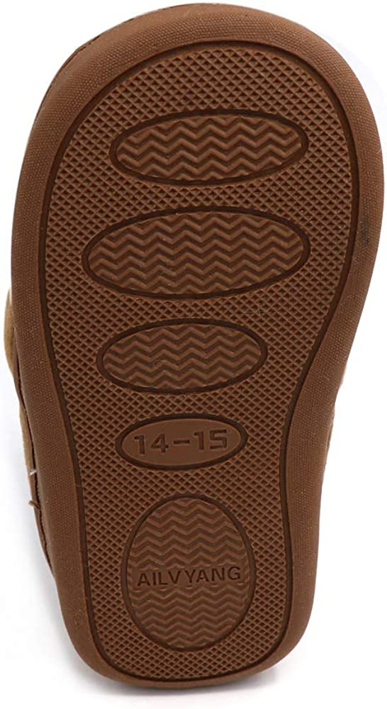 QGAKAGO Toddler Girls Boys House Slippers Little Kids Warm Cute Cartoon Anti-Slip Fur Lined Winter Indoor Shoes