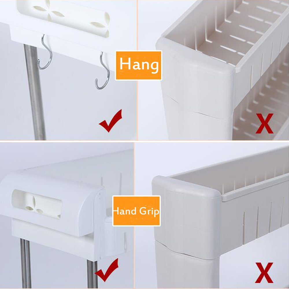 Amazon.de: aiyoo Gap Küche Slim Slide Out Storage Tower Rack - 3 ...