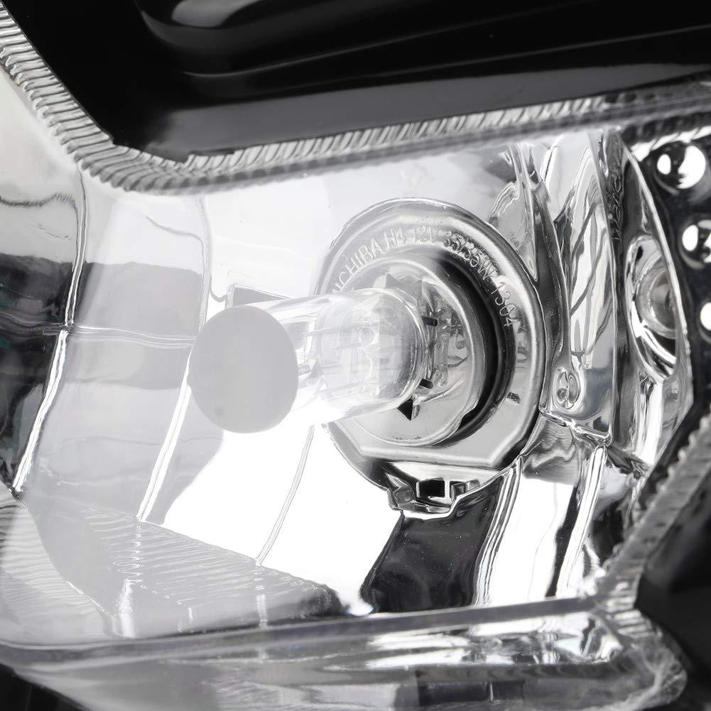 Akozon Faro anteriore Accessori per moto Lampada a smorfia modificata Faro anteriore Faro anteriore Giallo