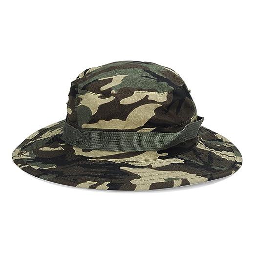b458df6744f JESPER Bucket Hat Boonie Hunting Fishing Outdoor Wide Cap Brim Military  Green