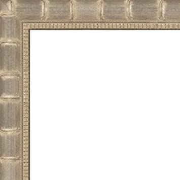 Amazon.com - 19x25 - 19 x 25 Silver Bamboo Solid Wood Frame with UV ...
