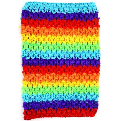 "Bright Rainbow Crochet Tutu Top (Medium 8 1/2"")"