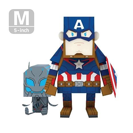 amazon com momot paper craft toy marvel avengers 2 captain