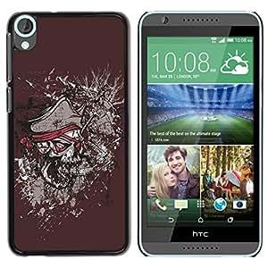Be Good Phone Accessory // Dura Cáscara cubierta Protectora Caso Carcasa Funda de Protección para HTC Desire 820 // Pirate Skull