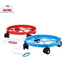 SUMO® LPG Cylinder Trolley Easily Movable Stand with Wheels,Gas Cylinder Stand