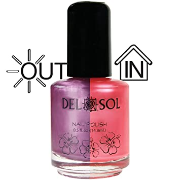 Amazon.com : Del Sol - Color Changing Nail Polish - Calypso : Light Changing Nail Polish : Beauty