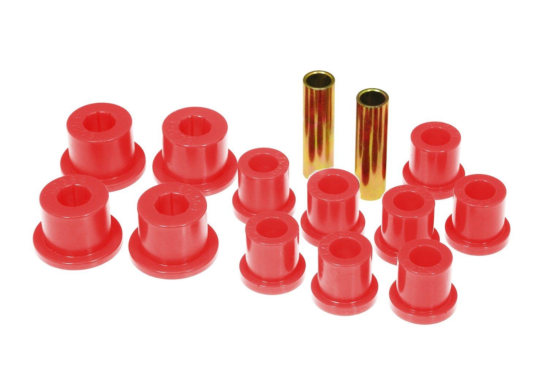 Prothane 18-1002 Red Rear Spring Eye and Shackle Bushing Kit