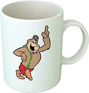 كوب قهوة عليه صورة غوريلا من ابتيود - أبيض