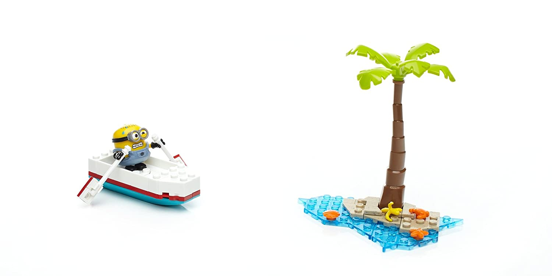 59 Piece Mattel DYD36 Mega Bloks Boys Construx Despicable Me Runaway Rowboat Building Set