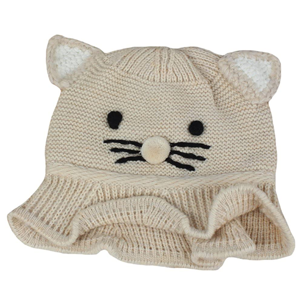 Amazon.com  New Cat Ear Lovely Fashion Knitting Wool Crochet Hat Baby Girls  Boys Caps Winter Warm Headwrap Bucket Hat  Clothing 2f05380698a7