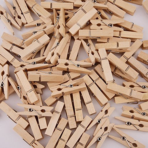 Sunmns 320 Feet Jute Twine and 100 Pieces Mini Natural Wooden Craft Clothespins Craft Pegs Clips Photo #6