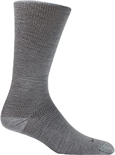 product image for Farm to Feet Men's Burlington Ultralight Dress Crew Socks, Platinum, Medium