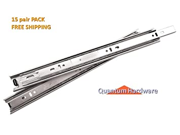Inch Full Extension Ball Bearing Drawer Slides   Per Pair  Pair Pack