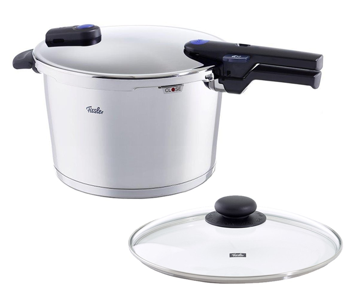 Fissler 10.6 quart Vitaquick Pressure Cooker with Glass Lid Set (FISS-AMZ126BOM)