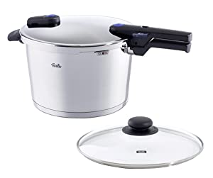 Fissler 8.5 quart Vitaquick Pressure Cooker with Glass Lid Set