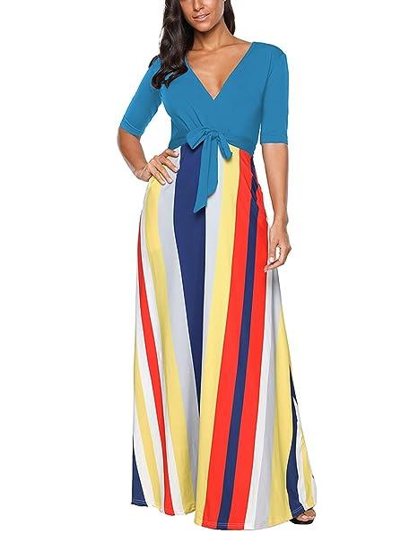 super popular d4915 839c1 SELUXU Damen Sommerkleid Mode Herbst Vintage Print Kleid ...