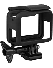 Kupton Frame for GoPro Hero7/(2018) 6/5 Housing Border Protective Shell Case for Go Pro Hero(2018) 6/5 Black with Quick Pull Movable Socket and Screw (Black)