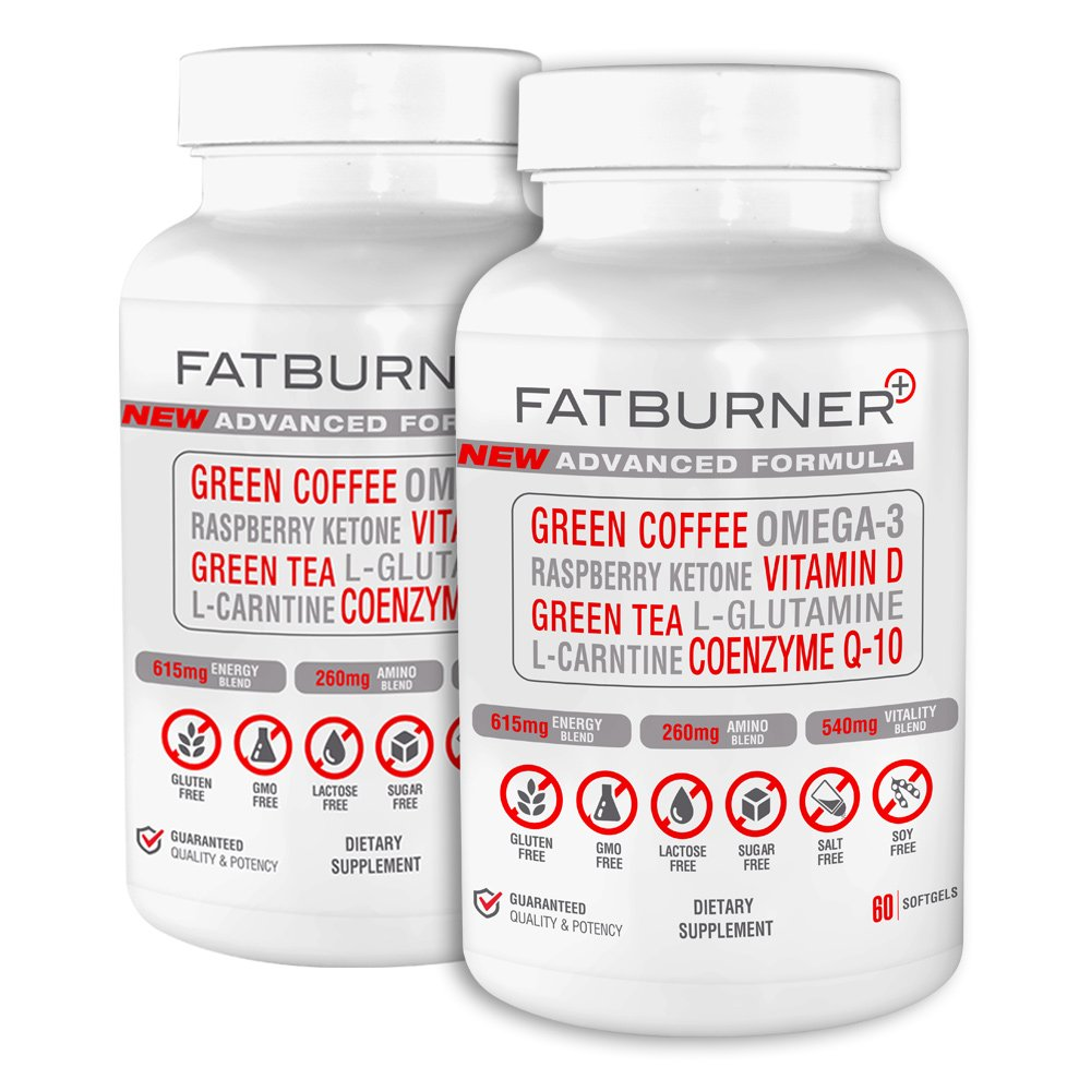 Fat Burner Plus - Advanced Weight-loss System | 2 Month Supply (120 Capsules)