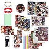 AMOLEY Pkiooi 154 pcs Toilet-Bound Hanako-kun Gift Set, Poster + Sticker + Postcard + Bookmark + Acrylic Figure etc, Anime Gift Set for Fans