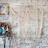 Best Decoration Fishes - CoZroom Cotton Nautical Decorative Party Fish Net Pack Review