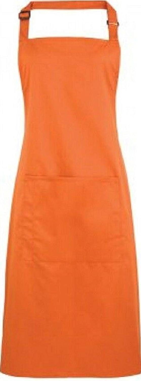 Premier Plain Polycotton with Single Pocket Bib Work Wear Apron 40 Colours New