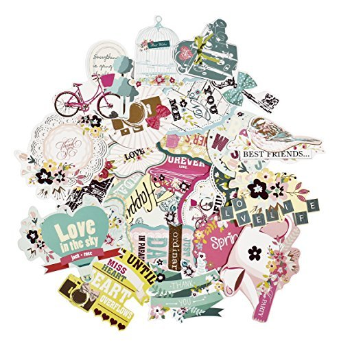 FaCraft-Scrapbooking-Supplies-Embellishments-Die-Cut-PackOld-Time25-Pieces-Assorted-Designs-