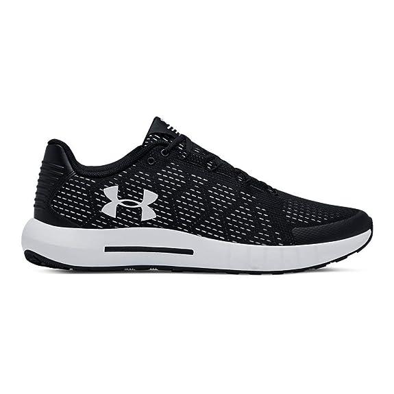 UNDER ARMOUR Men's Micro G Pursuit SE Running Shoe, Black (003)/White, 15