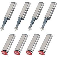 Ymwave 8 stuks ideaal voor het openingssysteem met schroeven en lijm voor deurkasten dempers set voor ladenset