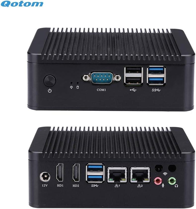 Qotom Mini Desktop PC Windows 10-CPU Core i5-7200U/ DDR4 8GB/NVMe 256GB M.2 SSD/Dual Band WiFi/ 4K HD/Gigabit LAN