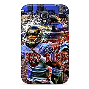 Samsung Galaxy S4 UEI19878AObI Allow Personal Design Vivid Tampa Bay Buccaneers Pattern Scratch Resistant Hard Cell-phone Case -JonathanMaedel