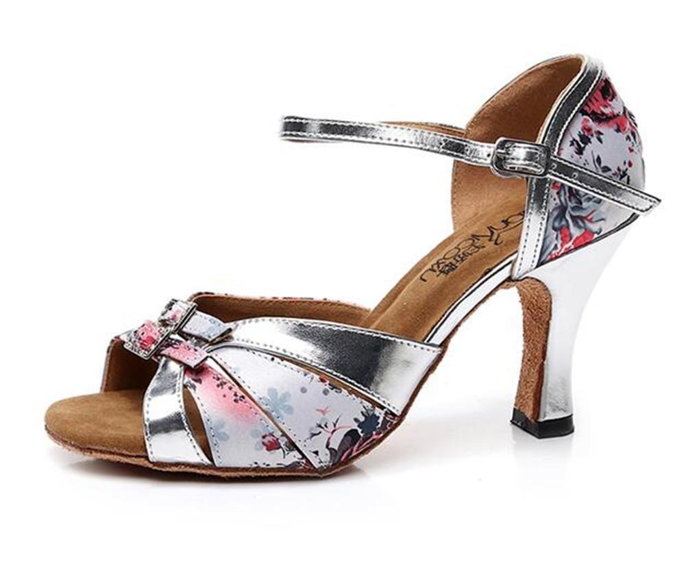 Frauen Schuhe PU Ballsaal Latein Taogo Tanz Pumpen Sandalen Größe 35 bis 41