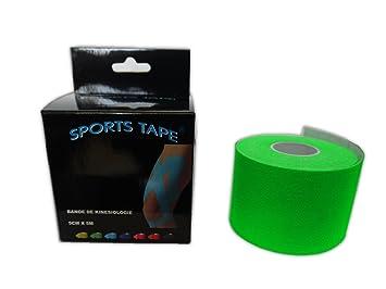 sports tape Cinta kinesiológica (5 m x 5 cm) - verde - 5m x 5cm: Amazon.es: Deportes y aire libre