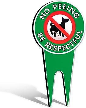 """Amazon.com: Cartel de perros con mensaje """"No Peeing ..."""