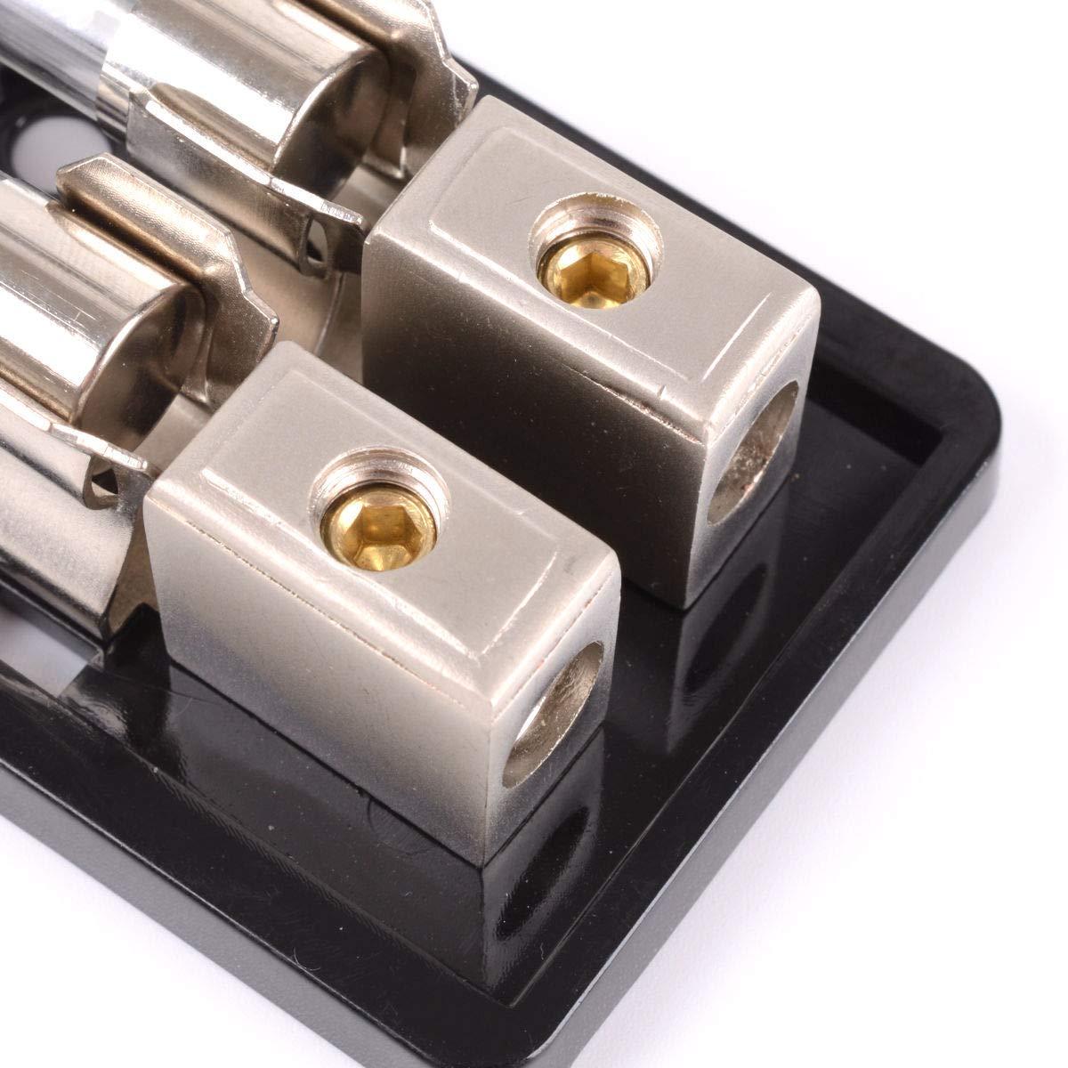 Porte-fusibles AGU /à 2 voies Mini pi/èces int/érieures de voiture surveill/ées en ligne 60A Audio AMP