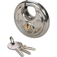 Silverline 292707 roestvrij stalen ronde slot, 70 mm